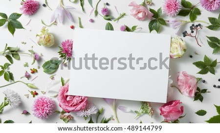 Beautiful spring floral frame