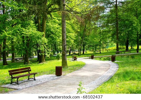 Beautiful Spring Park - stock photo
