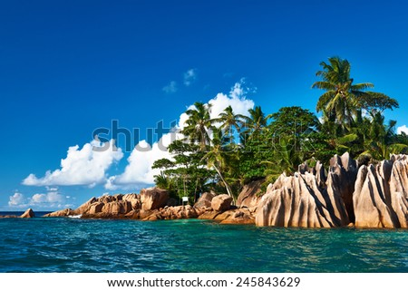 Beautiful St. Pierre Island at Seychelles - stock photo