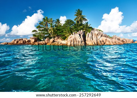 Beautiful St. Pierre Island at Seychelles - stock photo