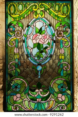 Beautiful stained-glass window - stock photo