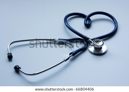 Beautiful stethoscope - stock photo