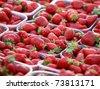 Beautiful strawberries background - stock photo