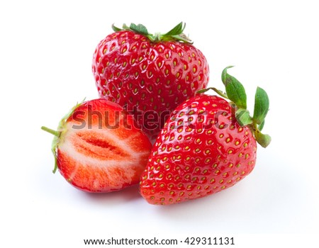 Beautiful strawberries isolated on white