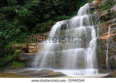 Beautiful streams and waterfalls