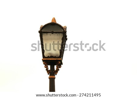 Beautiful street lamp closeup, streetlight