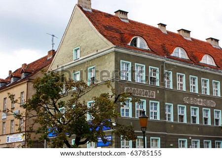 Beautiful Street of the Copenhagen - stock photo