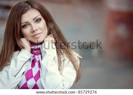 Beautiful stylish woman - stock photo