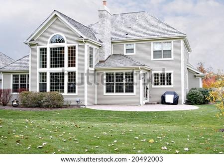 Beautiful suburban house - stock photo