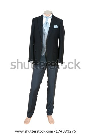 Beautiful suit on a man doll, Isolated