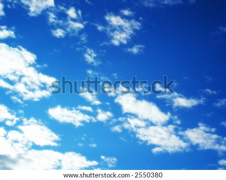 Beautiful summer clouds - stock photo