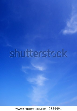 Beautiful summer clouds background 2 - stock photo