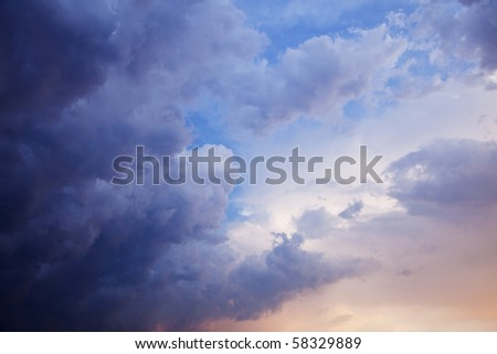 Beautiful summer cloudy sky before a storm - stock photo