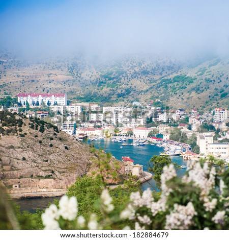 Beautiful summer day. Crimea, Balaklava - stock photo