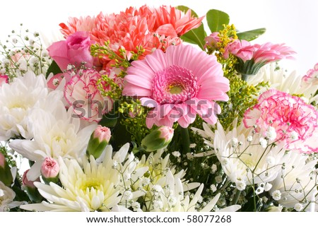 Beautiful summer flowers for weddings and home decor