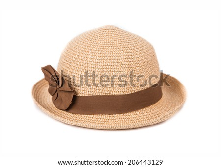 Beautiful summer hat, isolated on white