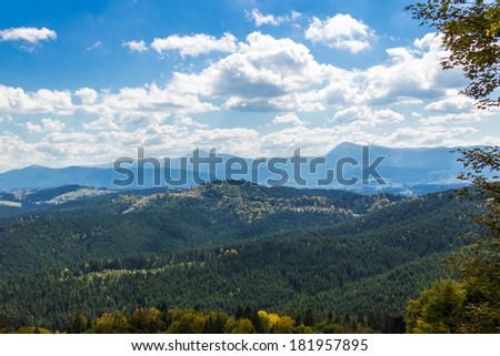 Beautiful summer landscape. View of Mount Hoverla, Ukraine.