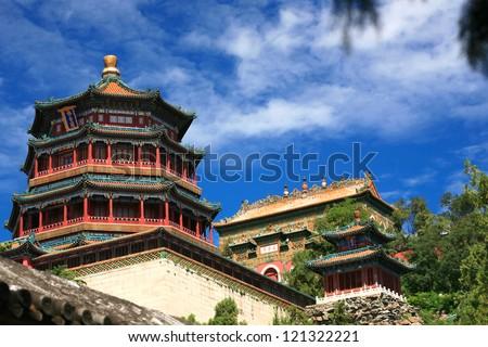 Beautiful Summer palace, Beijing, China - stock photo