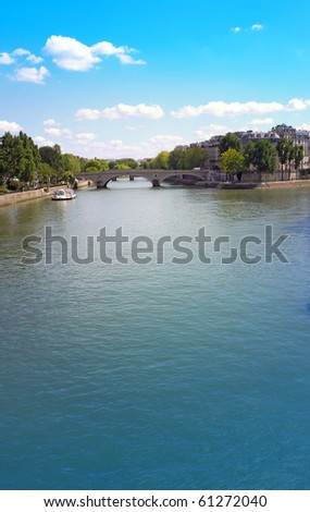 beautiful summer Parisian streets-paris france