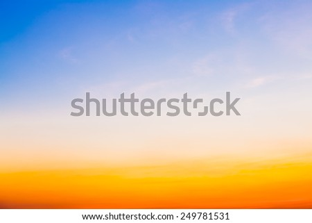 Beautiful summer sunset sky for background - stock photo
