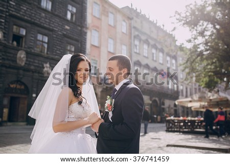 beautiful summer wedding that took place in the old city with wonderful architecture