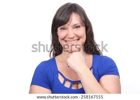 Beautiful summer woman - stock photo