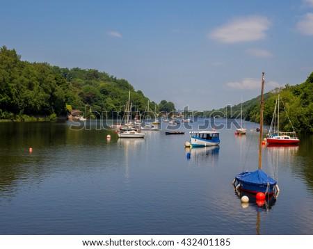 Beautiful summers day at Rudyard Lake, Rudyard, Leek Staffordshire, UK - stock photo
