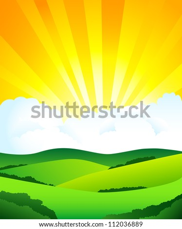 Beautiful sun day. Raster version. To see similar, please visit my gallery - stock photo