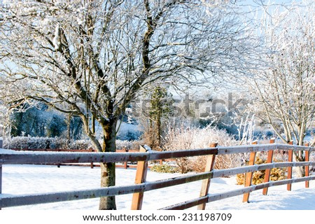 Beautiful sunny day in the country - stock photo