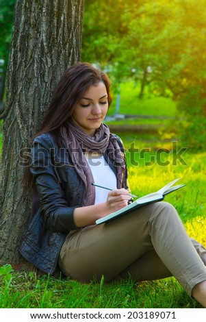 beautiful sunny portrait of a girl book