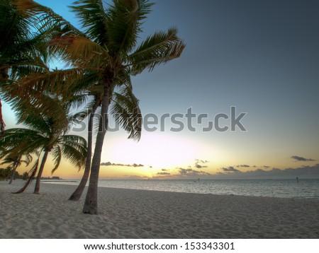Beautiful sunrise at Key West, Florida. - stock photo