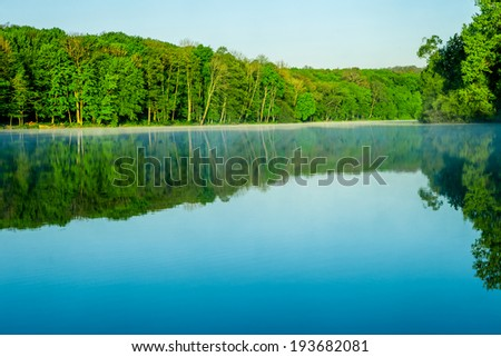 beautiful sunrise on the lake. Backgrounds  - stock photo