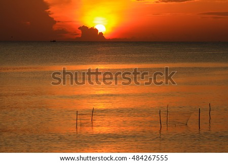 Beautiful sunrise on the sea