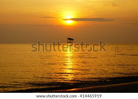 Beautiful sunrise on the sea at morning times:select focus with shallow depth of field:ideal use for background