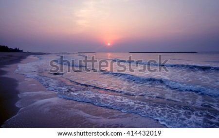 beautiful sunrise over the sea as nature background