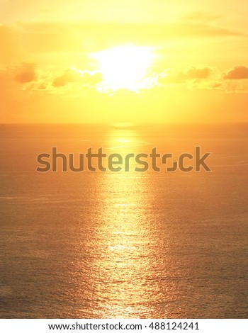 Beautiful sunset at sea background