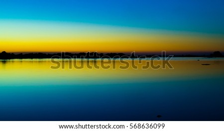 Beautiful Sunset at the beach Mirror Effect