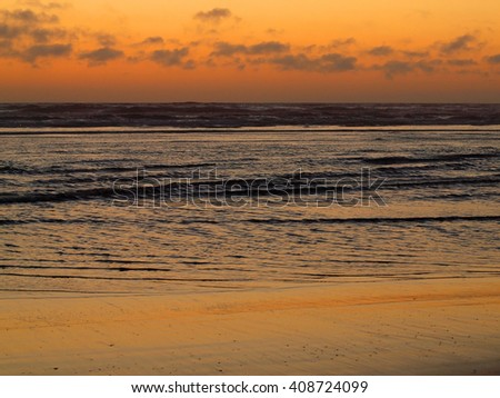 Beautiful Sunset at the Ocean - stock photo