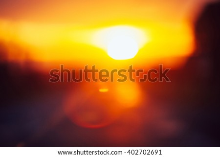Beautiful sunset, blurred abstract image