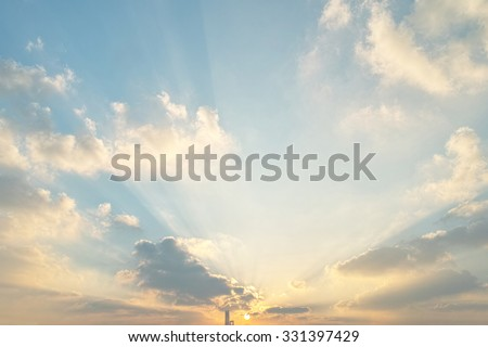 Beautiful sunset clouds - stock photo