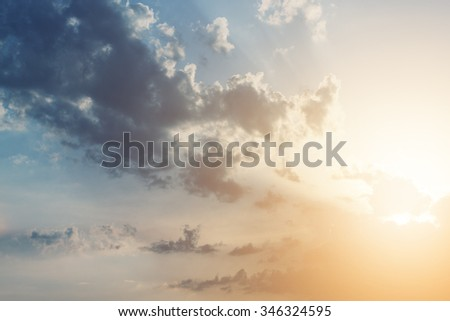 Beautiful sunset clouds