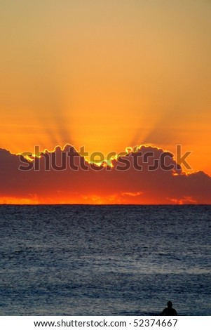 Beautiful Sunset in Perth, Australia - stock photo