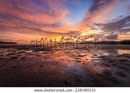 Beautiful Sunset in Phuket, Thailand - stock photo