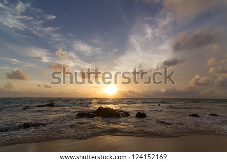 Beautiful sunset of Thailand. - stock photo