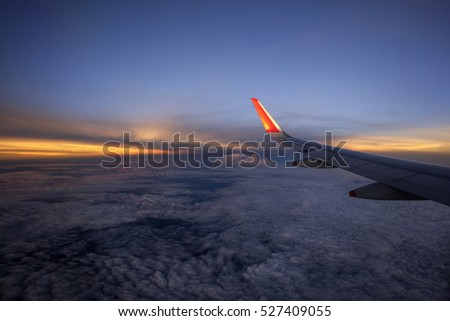 Beautiful Sunset on The Flight to Perth Western Australia