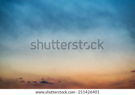 Beautiful sunset sky as background. - stock photo