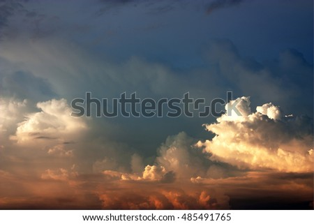 beautiful sunset sky with twilight background.