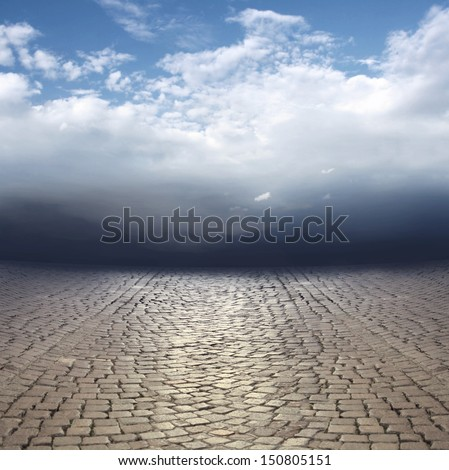 Beautiful surreal abstract landscape - stock photo