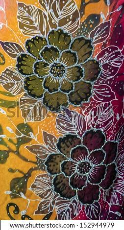 Beautiful sutera batik patterns of Asia in digital oil painting. - stock photo