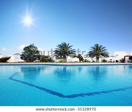 Beautiful Swimming Pool - stock photo